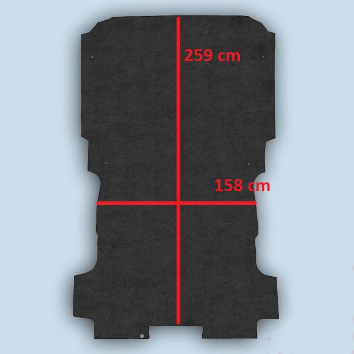 dimensions plancher Peugeot Expert