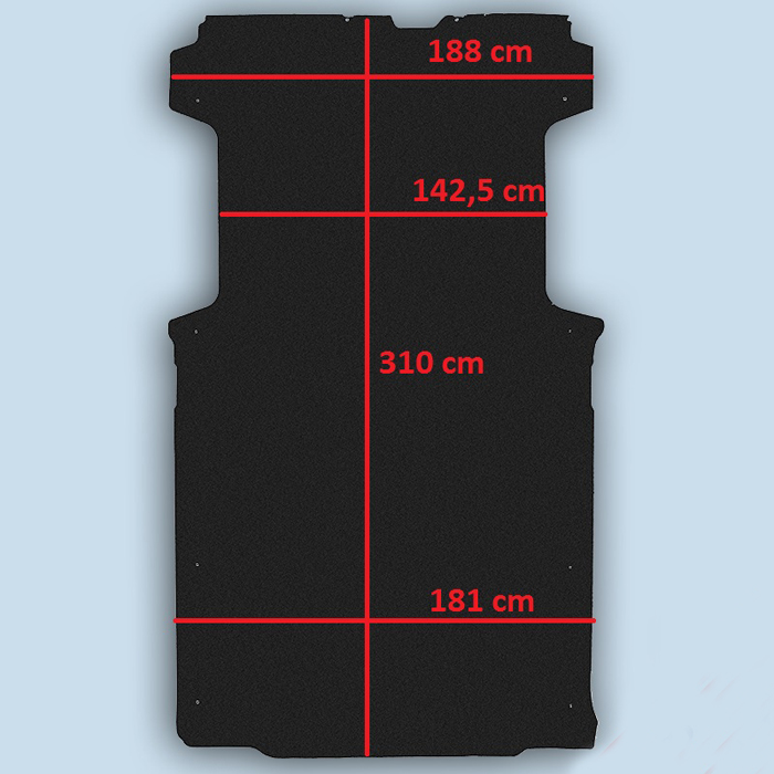 dimensions plancher Citroën Jumper L2