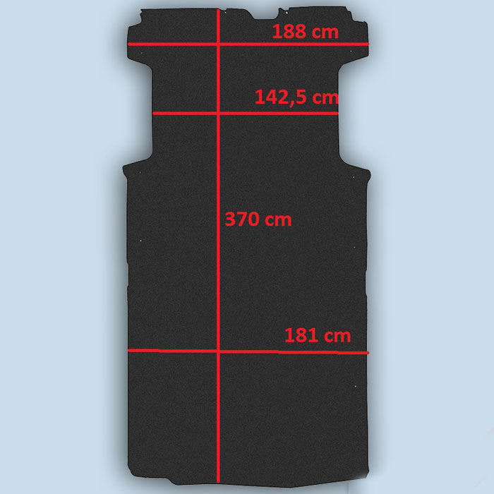 dimensions plancher Citroën Jumper L3
