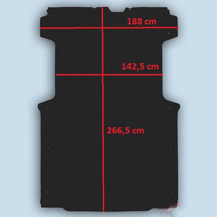 dimensions plancher Citroën Jumper L1