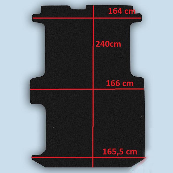 dimensions plancher Opel Vivaro 1 court