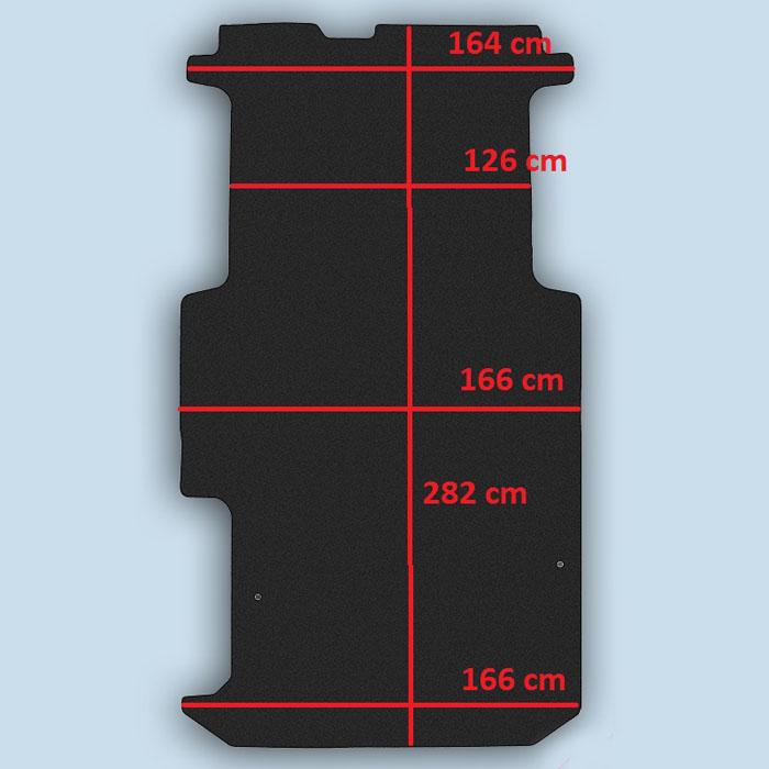 dimensions plancher Opel Vivaro 1 long