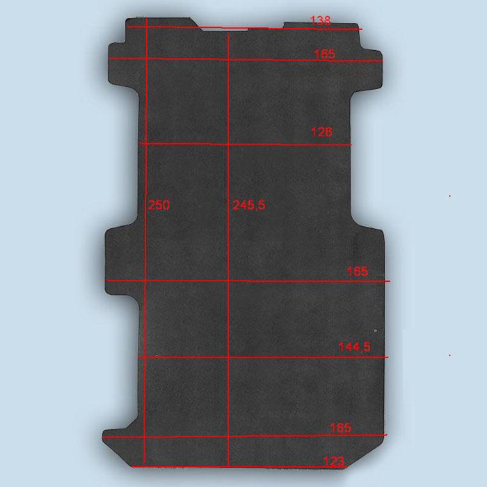 dimensions plancher Opel Vivaro 2 court