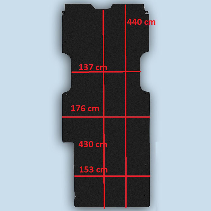 dimensions plancher Renault Master 3 L4