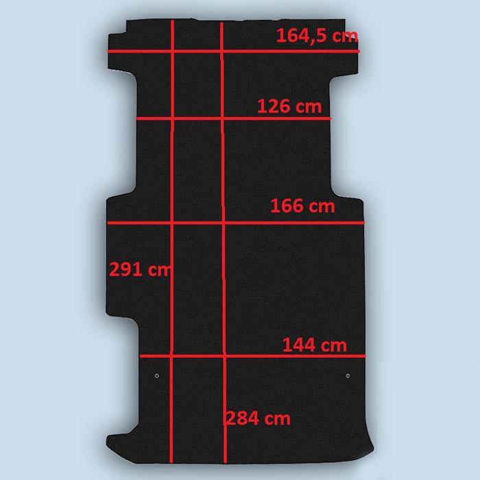 dimensions plancher Opel Vivaro 2 long